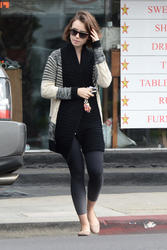 Lily Collins - out in LA 11 December 2014 -x5