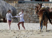 Лиа Мишель, фото 1600. Lea Michele - wearing a bikini in Cabo San Lucas 02/19/12 / tagged, foto 1600,
