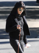 Selma Blair out & about walking her dog 28-01-2011