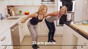 Candace Cameron - kitchen workout - Delish article - MQ