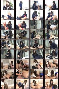 Old Men Raped by School Girl in Strap-on and Boots FT-88  Asian Femdom