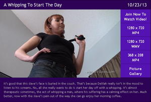 A Whipping To Start The Day